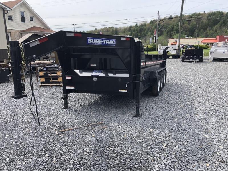 """2019 Sure-Trac  82"""" x 16' Tri Axle 21K Telescopic Dump Trailer"""