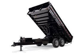 Sure-Trac 96X14 14K Deckover Dump W/ Fold Down Sides