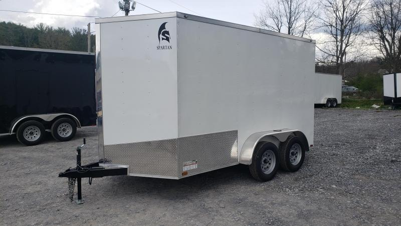 Spartan Cargo 7X12 7K Enclosed White