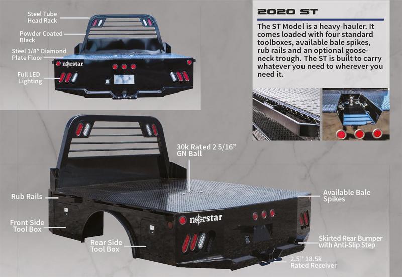 "2021 Norstar 11'4"" x 94"" ST Model Truck Bed"