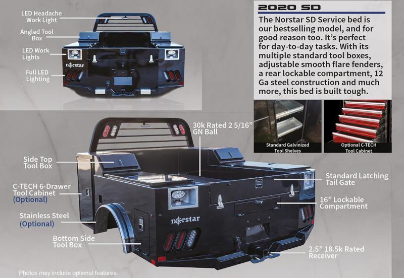 """2021 Norstar 8'6"""" x 90"""" SD Model Truck Bed"""