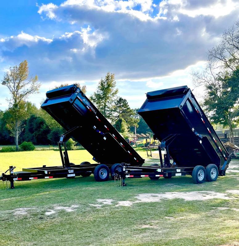 2022 Iron Bull 83x16 Bumper Pull 2-700o axles Dump Trailer