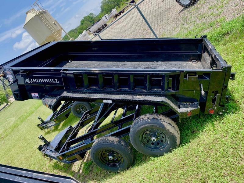 2022 Iron Bull 60x10 Bumper Pull 2-5200 Axles Dump Trailer