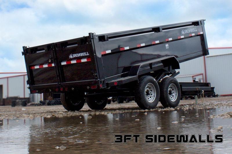 2022 Iron Bull 83X14 3FT WALL BUMPER PULL DUMP 2-7K AXLES Dump Trailer