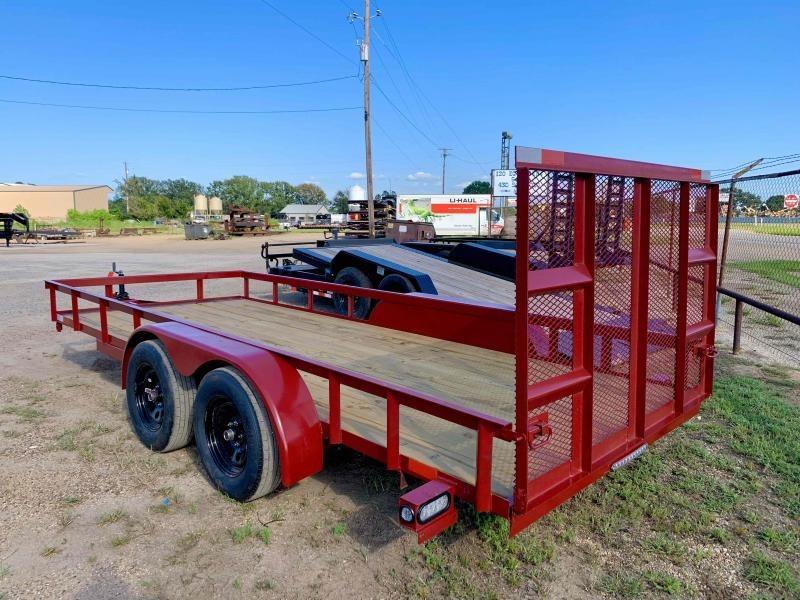 2022 Load N Go 76X16 W/4' GATE ONE BRAKE AXLE Utility Trailer