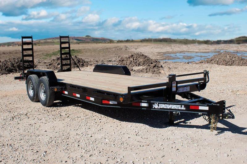 2022 Iron Bull 83x20 Bumper Pull 2-7000 axles w/Fold Up Ramps Equipment Trailer