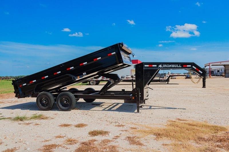 2022 Iron Bull 83x16 Gooseneck 2-7k axles Dump Trailer