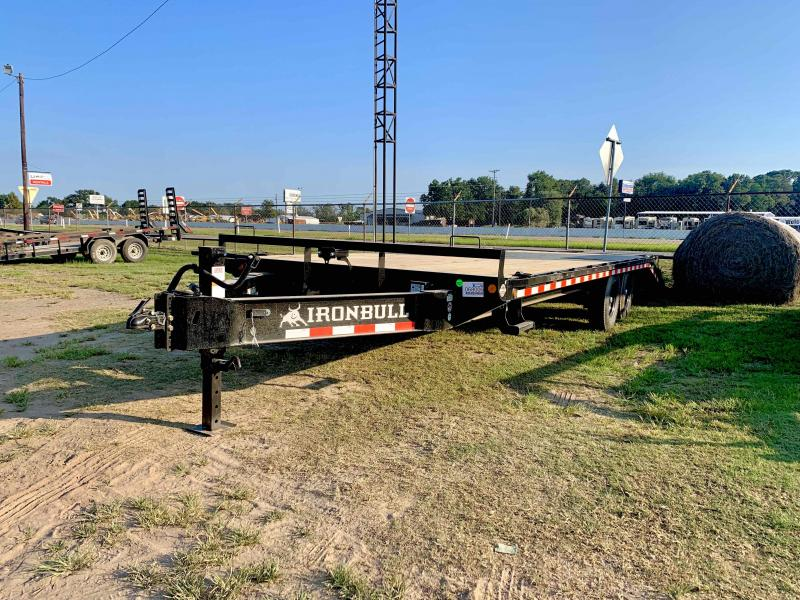 2022 Iron Bull 102x24 DECK-OVER PINTLE 2-7000 AXLES Flatbed Trailer