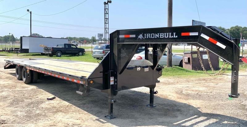 2022 Iron Bull 102X32 Gooseneck LOW PRO 2-10k axles Flatbed Trailer