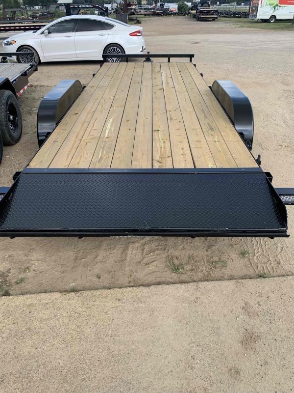 2022 Load N Go Trailers 82x20 Car Hauler w/ ramps & one brake Flatbed Trailer