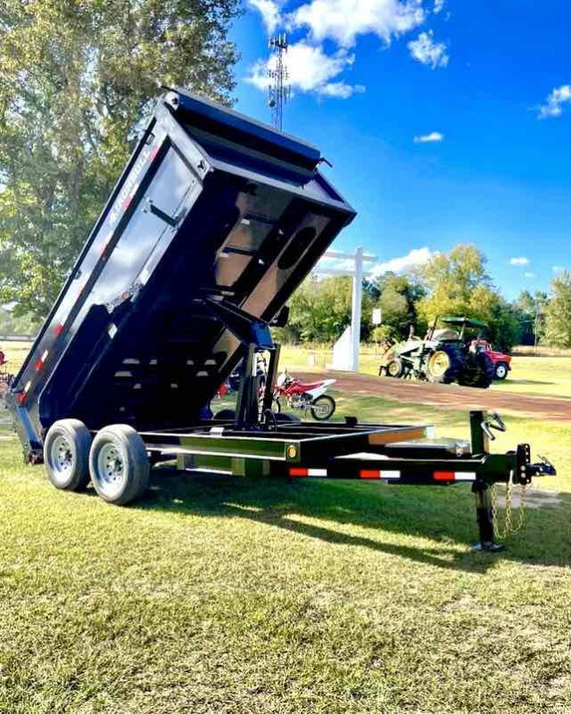 2022 Iron Bull 83x14 Bumper Pull 2-7000 axles 3 ft wall Dump Trailer