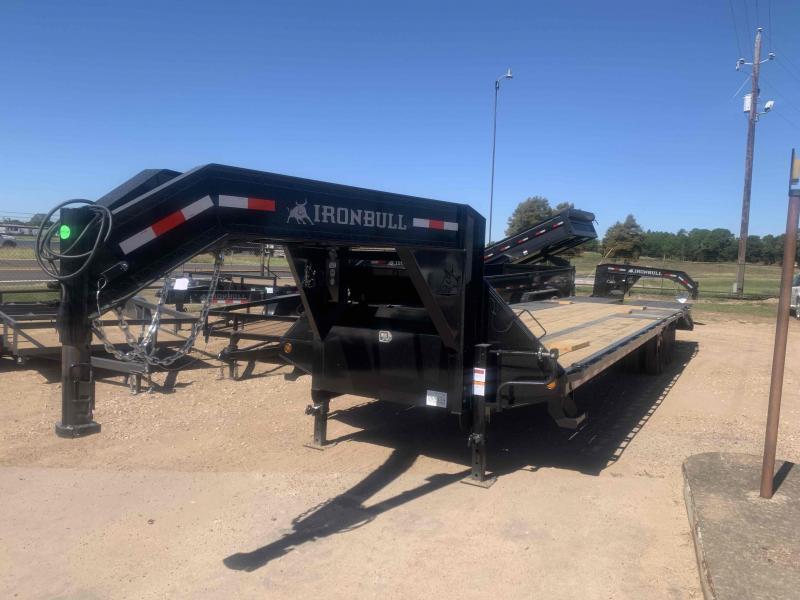 2022 Iron Bull 102x32 deck over gooseneck w/mega ramps 2-10k axles Flatbed Trailer
