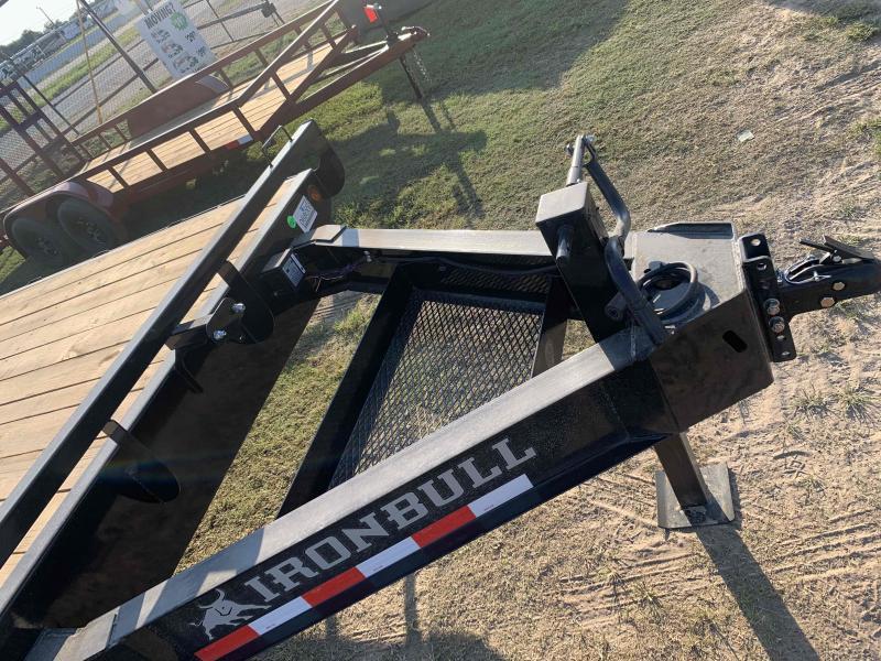 2022 Iron Bull 102X24 DECK-OVER PINTLE 2-7K AXLES Flatbed Trailer