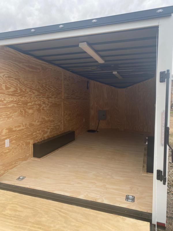 2021 Spartan 8.5 x 16 white air con Enclosed Cargo Trailer