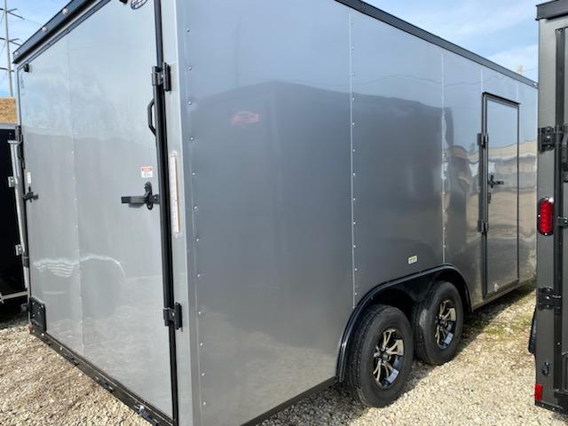 2021 8.5 x 16 Silver w/ blackout Enclosed Cargo Trailer