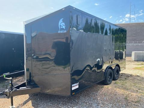 2020 8.5 x 16 Black w/ blackout Enclosed Cargo Trailer