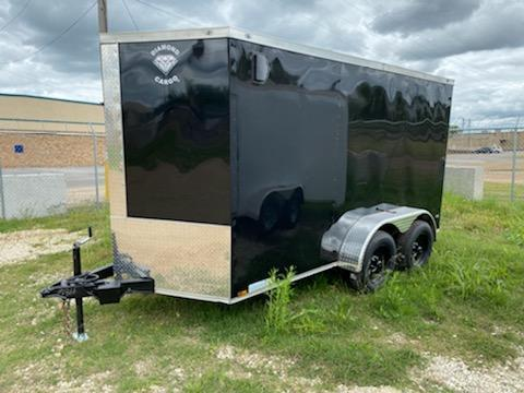 2021 Diamond Cargo 6 x 12 Tandem Enclosed Trailer