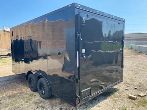 2021 8.5 x 16 Black w/ blackout Enclosed Cargo Trailer