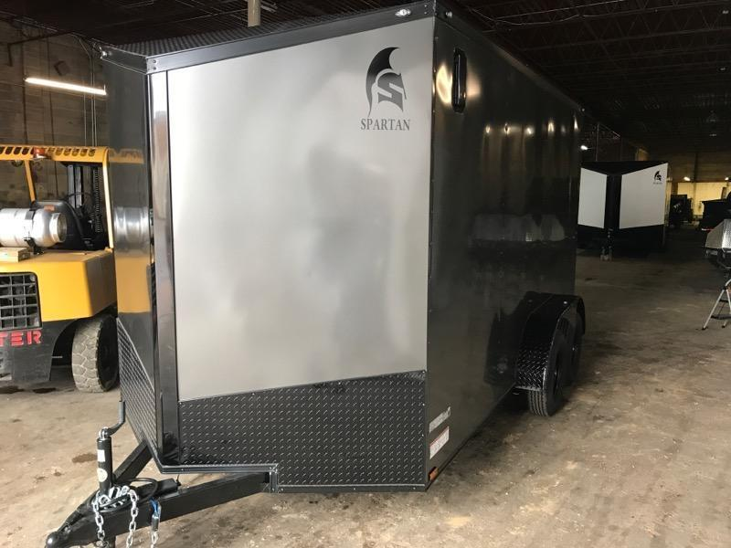 2021 Spartan 7 x 14 x 7  Charcoal Gray Enclosed Cargo Trailer