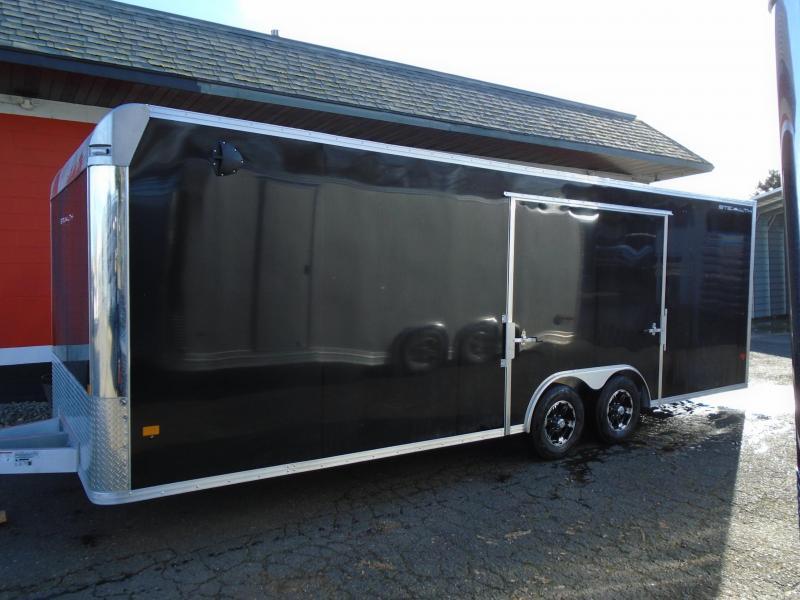 2021 Alcom-Stealth C8.5X24SCH-IF ELITE DOOR ESCAPE DOOR Car / Racing Trailer