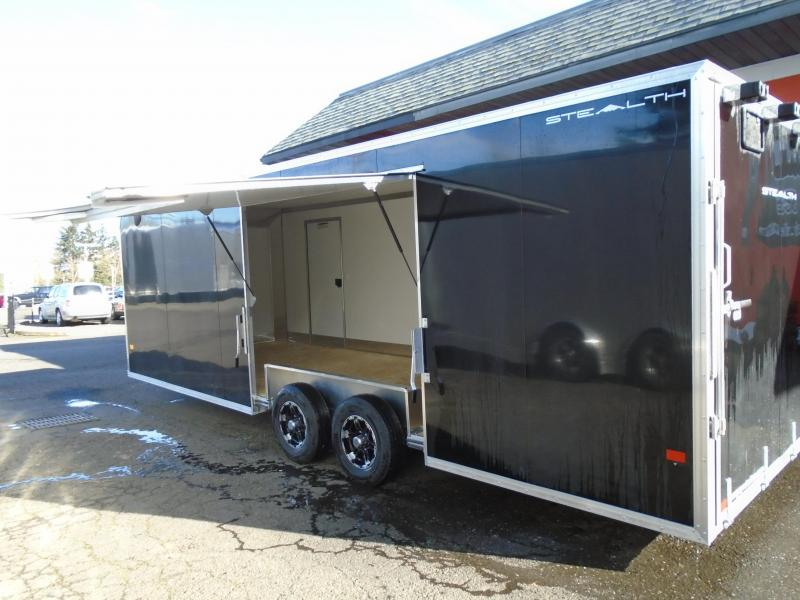 2021 Alcom-Stealth C8.5X24SCH-IF ELITE DOOR ESCAPE DOOR Car / Racing Trailer