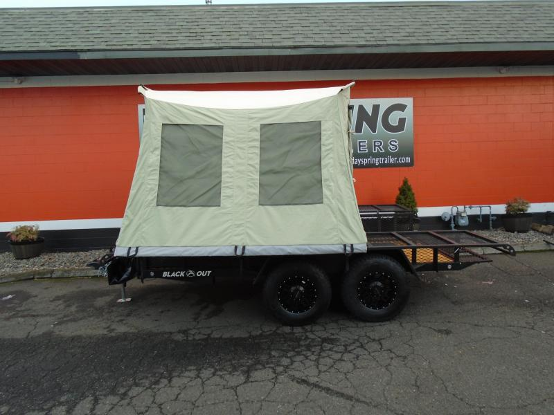2021 Jumping Jack Trailers JJT6X12X8 BLACKOUT Tent Camper