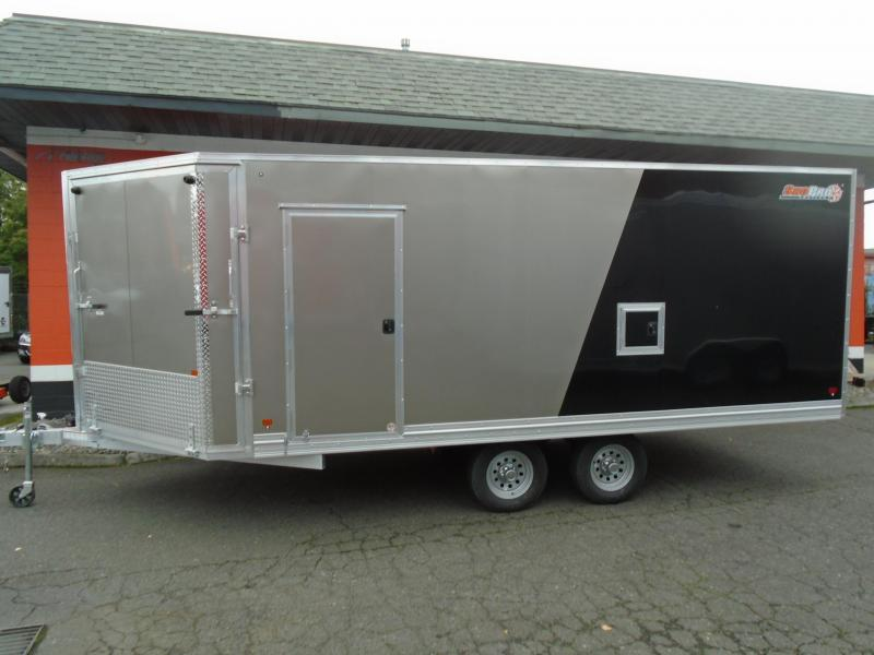 2021 Snopro SNOPROE101X18ESH ALL ALUMINUM SNOWMOBILE TRAILER