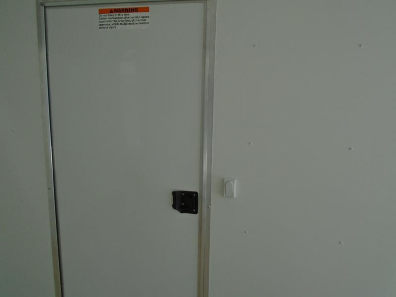 2020 ALCOM ALL ALUMINUM 8.5X20 ENCLOSED TRAILER WITH THE BIG ESCAPE DOOR