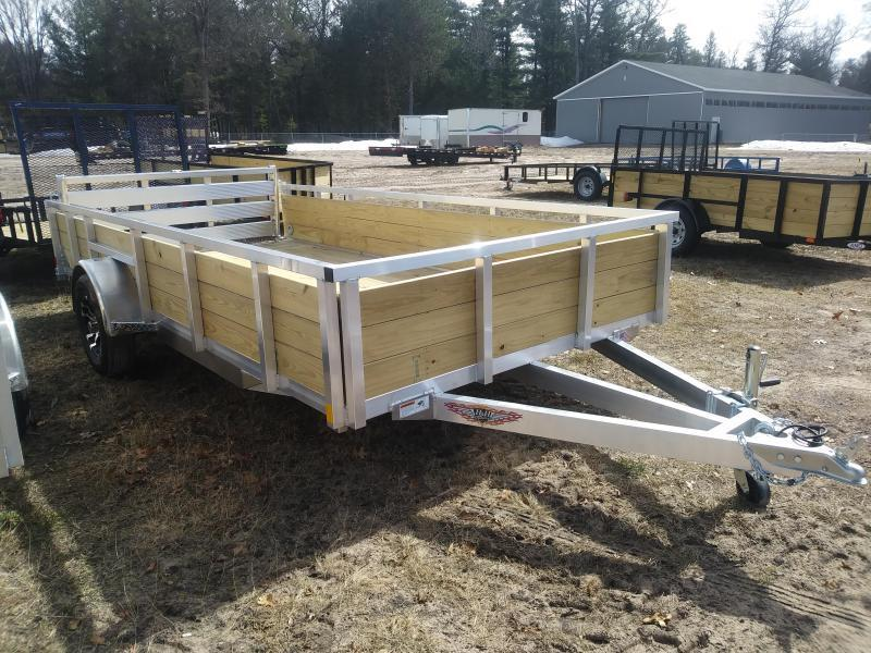 "2021 H and H Trailer 6'8"" X 14' WOOD-SIDE ALUM 3K"