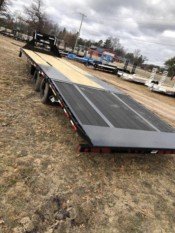 2021 Load Trail 32 foot hydraulic dove tail Equipment Trailer