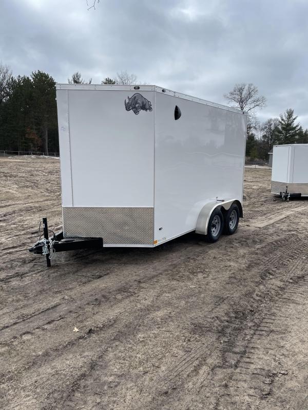 2021 Rhino Trailers 7 x 12 ramp Enclosed Cargo Trailer