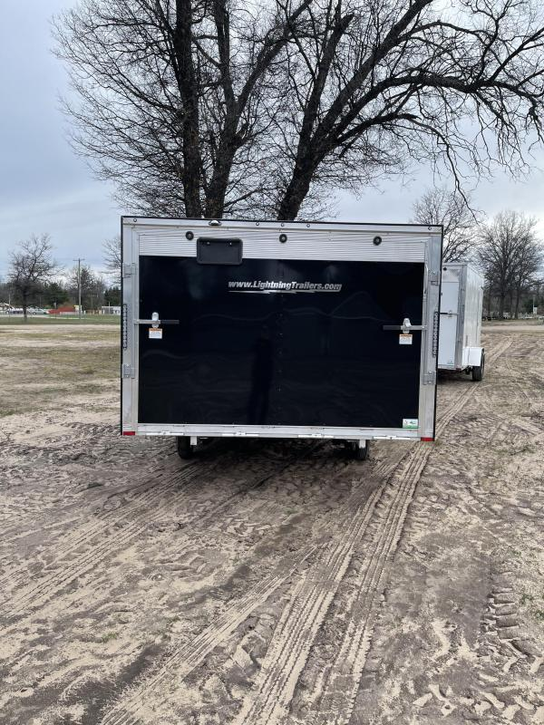 2021 Forest River, Inc. 8.5 x 13 ramp door Snowmobile Trailer