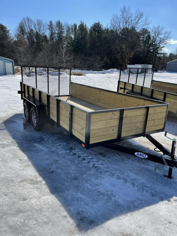 2021 American Manufacturing Operations (AMO) ut162 Utility Trailer