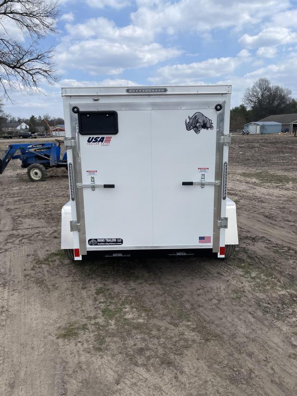 2021 Rhino Trailers 5 x 8 ramp Enclosed Cargo Trailer