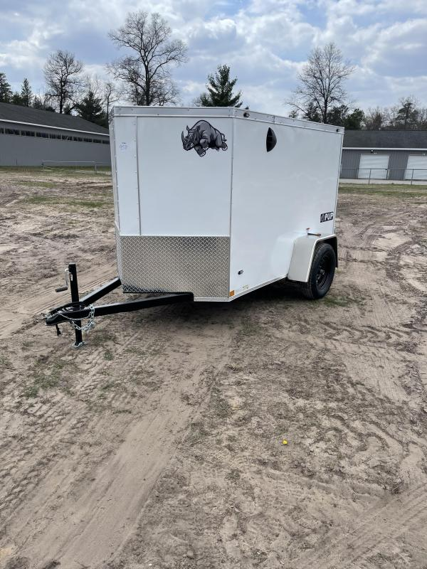 2021 Rhino Trailers 5 x 8 ramp Enclosed Cargo Trailer