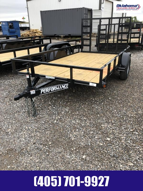 "2021 Performance Trailers 77"" x 12' SA Utility Trailer Utility Trailer"