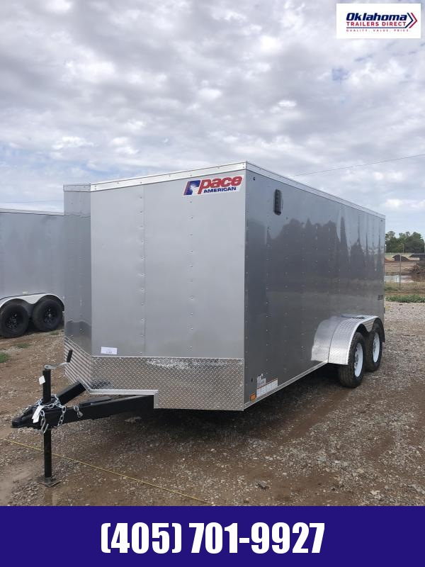2022 Pace American 7' x 16' Tandem Axle Enclosed Cargo Trailer