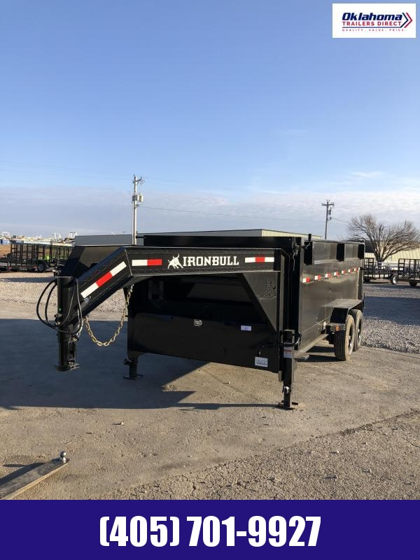 "2021 Iron Bull 83"" x 16' TA Gooseneck Dump Trailer"