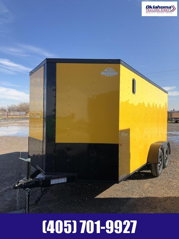 2021 Rock Solid Cargo 7 x 14 TA Enclosed Cargo Trailer