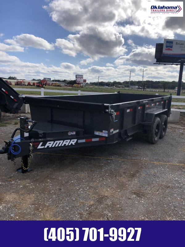 "2022 Lamar Trailers 83"" x 16' Tandem Axle Low Pro Dump Trailer"