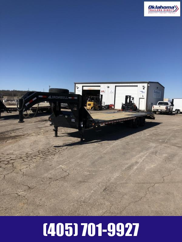 "2021 Iron Bull 102"" x 32' TAD Gooseneck Trailer Equipment Trailer"