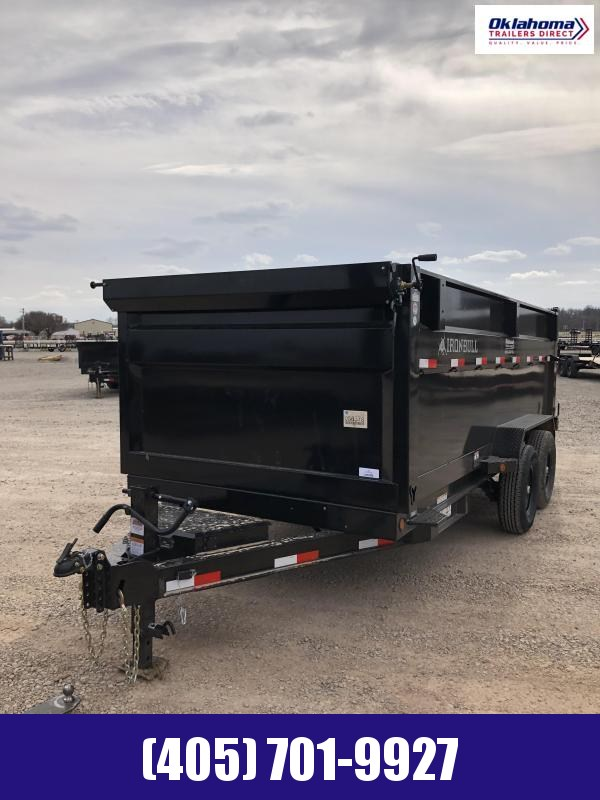 "2021 Iron Bull 83"" x 16' TA Dump Trailer"