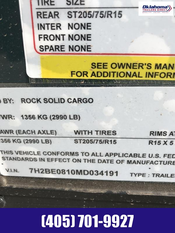 2021 Rock Solid Cargo 5' x 8' SA Enclosed Cargo Trailer