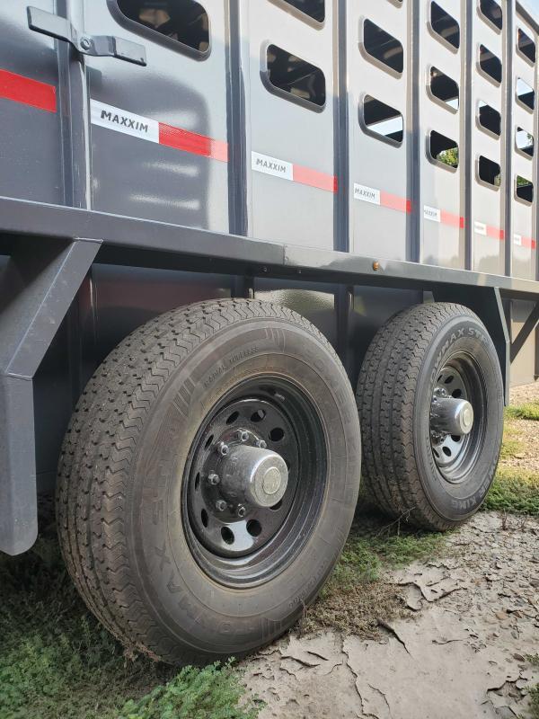 2022 Maxxim Industries MAX6'8x28TandemAxle Livestock Trailer