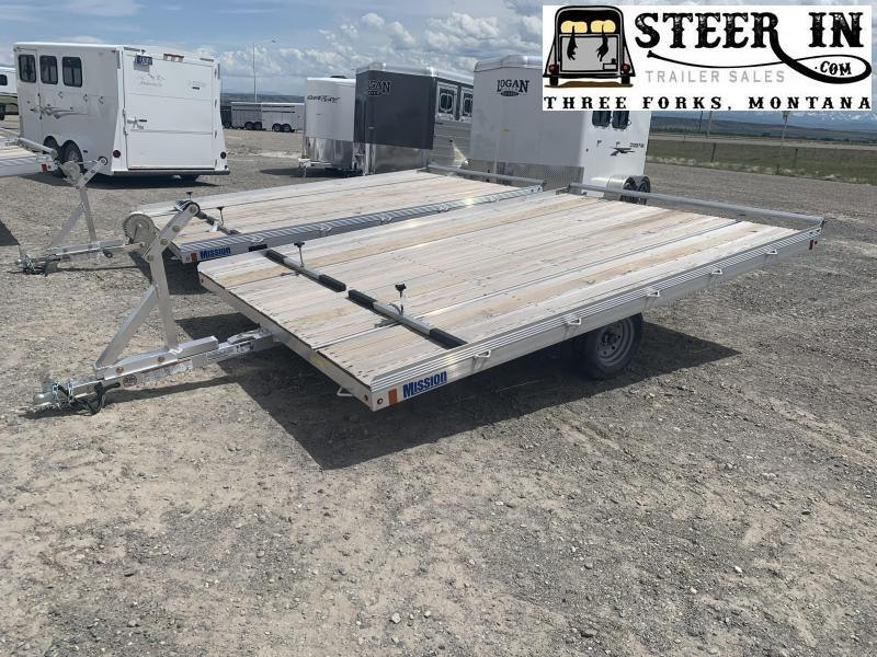 2019 Mission 96X12' Raft/Snowmobile Trailer