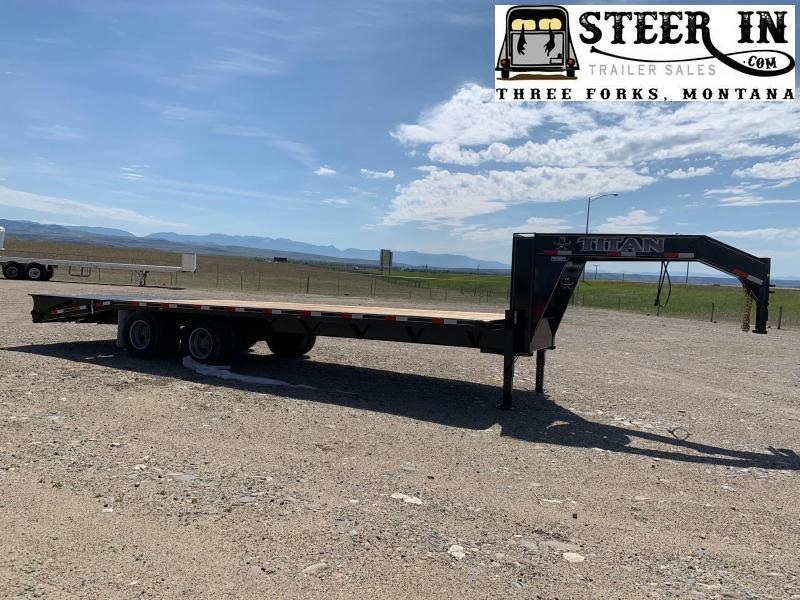 2020 Titan 26' (20+6) Tandem Dually Flatbed Trailer
