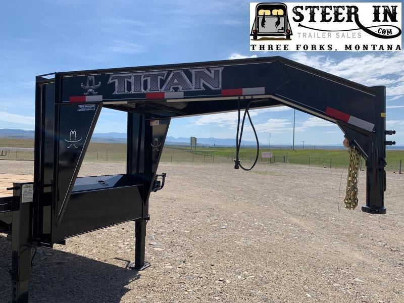 2020 Titan 26' (20+6) Tandem Dually Flatbed Trailer