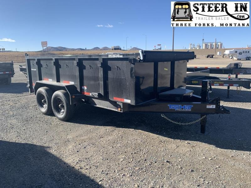 2021 Top Hat 7X14' (3' sides) Low Profile DPX140 Dump Trailer