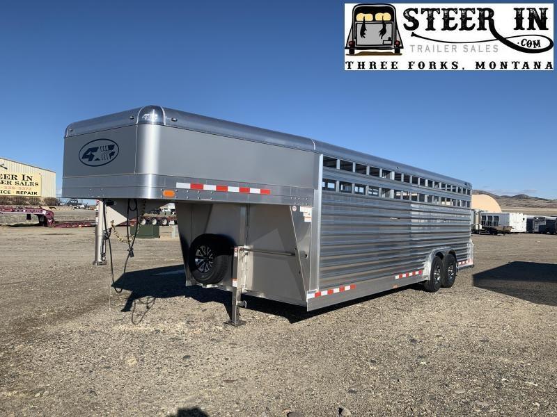 2021 4-Star 24' Livestock Trailer