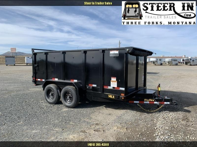 2021 Big Tex  14LX 14' W-4' SIDES Dump Trailer